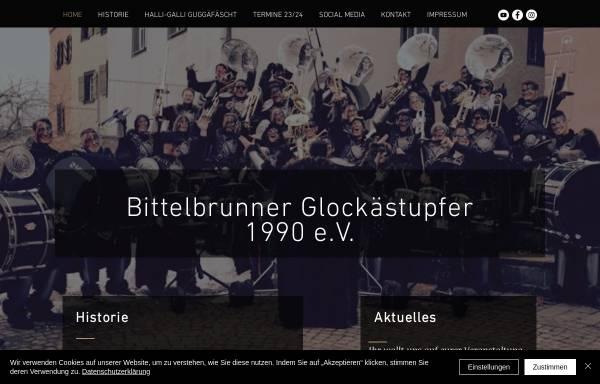 Vorschau von www.glockaestupfer.de, Bittelbrunner Glockästupfer 1990 e.V.