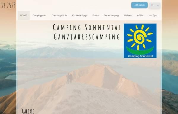 Vorschau von www.camping-sonnental.de, Camping Sonnental