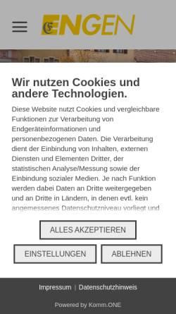 Vorschau der mobilen Webseite www.engen.de, Engen