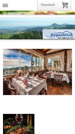 Vorschau der mobilen Webseite www.hegaublick.de, Hegaublick.de