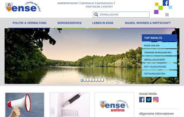 Vorschau von www.gemeinde-ense.de, Gemeinde Ense