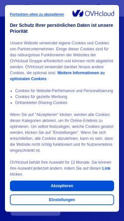 Vorschau der mobilen Webseite www.ovh.de, OVH GmbH