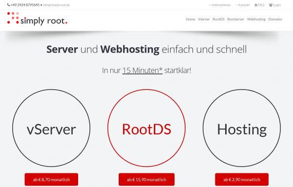Vorschau von www.simplyroot.de, LiWiNeA GmbH