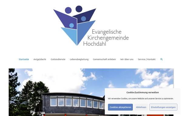 Vorschau von www.evangelischekirchehochdahl.de, Evangelische Kirchengemeinde Hochdahl