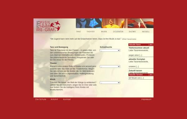 Vorschau von www.iris-graf.de, Schule für Musik Tanz Theater Iris Graf