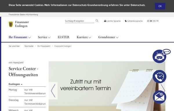 Vorschau von www.fa-esslingen.de, Finanzamt Esslingen