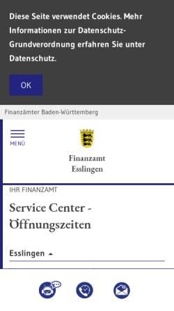 Vorschau der mobilen Webseite www.fa-esslingen.de, Finanzamt Esslingen