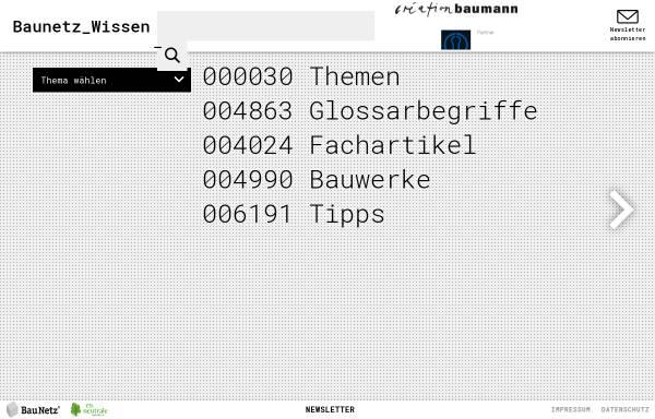 Vorschau von www.baunetzwissen.de, Baunetzwissen