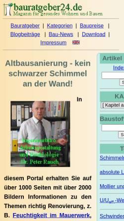 Vorschau der mobilen Webseite www.ib-rauch.de, Ingenieurbüro Peter Rauch Baulexikon