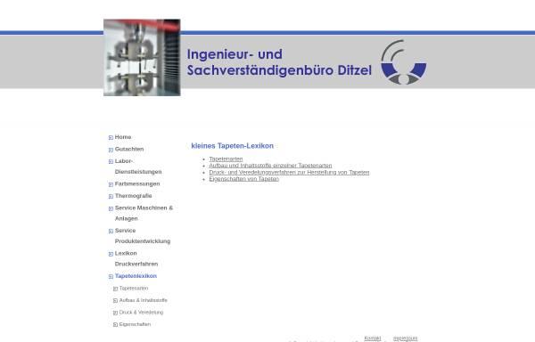 Vorschau von www.ib-ditzel.de, Kleines Tapetenlexikon