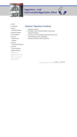 Vorschau der mobilen Webseite www.ib-ditzel.de, Kleines Tapetenlexikon