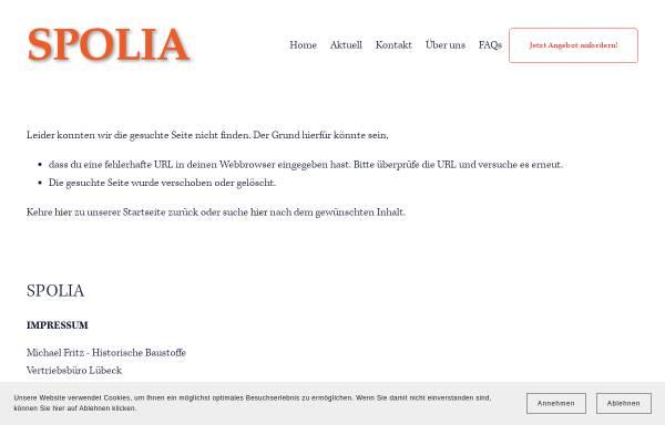 Vorschau von www.spolia.de, Lexikon für historische Baustoffe