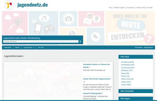 Vorschau von www.jugendnetz.de, Jugendnetz Baden-Württemberg