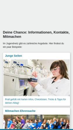 Vorschau der mobilen Webseite www.jugendnetz.de, Jugendnetz Baden-Württemberg