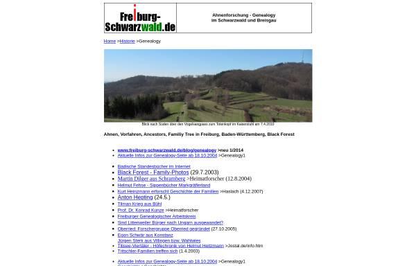 Vorschau von www.frsw.de, Ahnenforschung - Genealogy im Schwarzwald