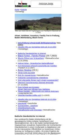 Vorschau der mobilen Webseite www.frsw.de, Ahnenforschung - Genealogy im Schwarzwald