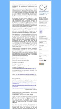 Vorschau der mobilen Webseite friedensplenum.twoday.net, Tübingen: Friedensplenum