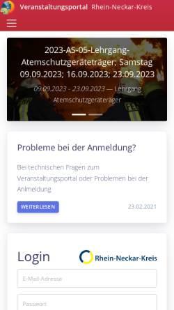 Vorschau der mobilen Webseite www.rnk-feuerwehr.de, Feuerwehr Rhein-Neckar Kreis