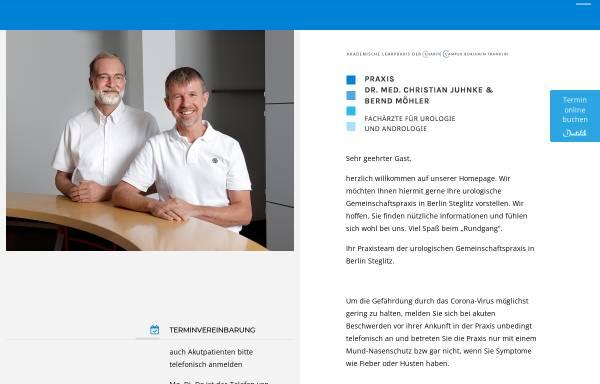 Vorschau von www.urologiesteglitz.de, Gemeinschaftspraxis Dr. Christian Juhnke und Bernd Möhler