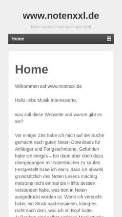 Vorschau der mobilen Webseite www.notenxxl.de, Andreas Günther