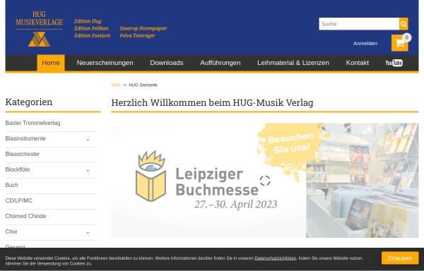 Vorschau von hug-musikverlage.ch, Hug Musikverlage