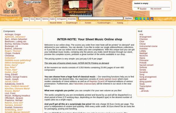 Vorschau von www.inter-note.com, Inter-Note GmbH