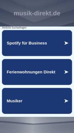 Vorschau der mobilen Webseite www.musik-direkt.de, Peter Sass und Peter Nohr GbR