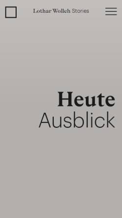 Vorschau der mobilen Webseite www.lothar-wolleh.de, Lothar Wolleh - Fotograf der Moderne