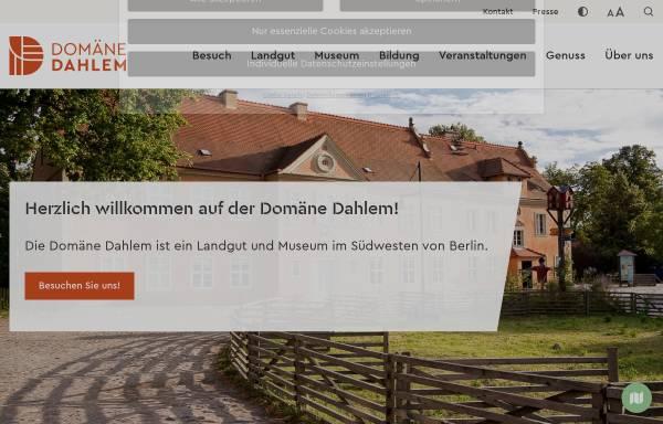 Vorschau von www.domaene-dahlem.de, Freilichtmuseum Domäne Dahlem