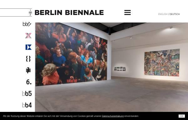 Vorschau von www.berlinbiennale.de, Berlin Biennale