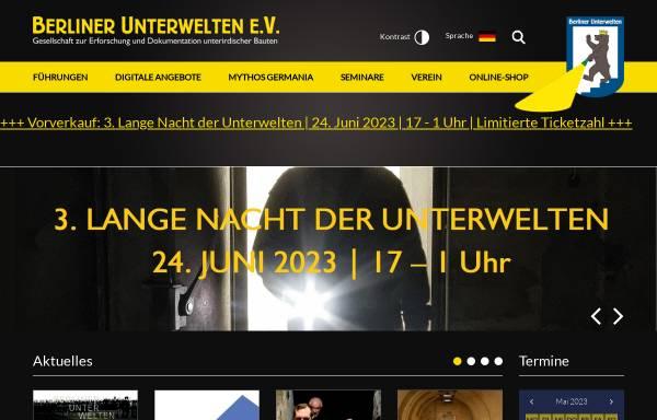 Vorschau von www.berliner-unterwelten.de, Berliner Unterwelten e.V.