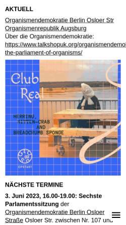 Vorschau der mobilen Webseite www.clubreal.de, Club Real