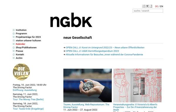 Vorschau von ngbk.de, Neue Gesellschaft für Bildende Kunst e.V. (NGBK)