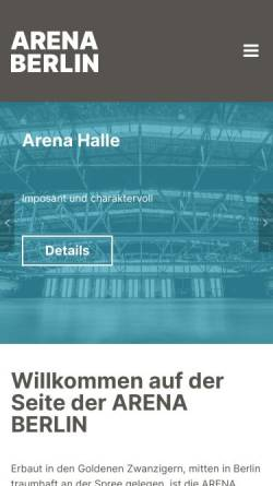 Vorschau der mobilen Webseite www.arena.berlin, Arena
