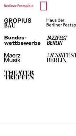 Vorschau der mobilen Webseite www.berlinerfestspiele.de, Berliner Festspiele