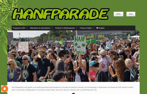 Vorschau von www.hanfparade.de, Hanfparade
