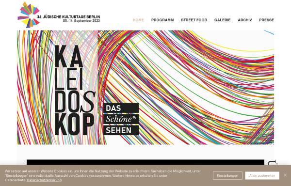Vorschau von www.juedische-kulturtage.org, Jüdische Kulturtage