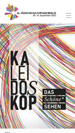 Vorschau der mobilen Webseite www.juedische-kulturtage.org, Jüdische Kulturtage