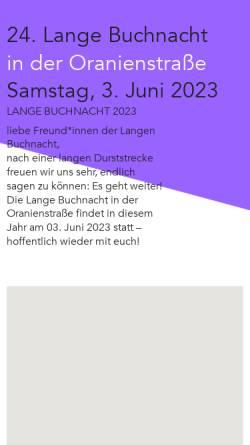 Vorschau der mobilen Webseite www.lange-buchnacht.de, Lange Buchnacht