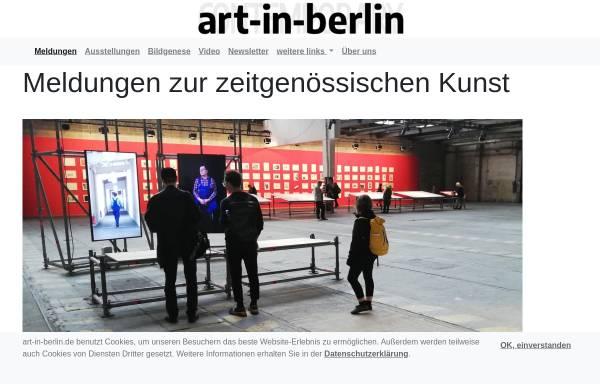 Vorschau von www.art-in-berlin.de, Art in Berlin - Kunstagentur Thomessen