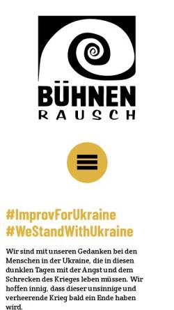 Vorschau der mobilen Webseite www.buehnenrausch.de, BühnenRausch