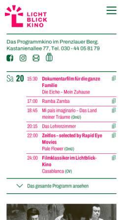 Vorschau der mobilen Webseite www.lichtblick-kino.org, Stattkino e.V. - Lichtblick-Kino und Nickelodeon