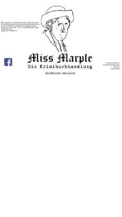 Vorschau der mobilen Webseite www.krimi-marple.de, Krimibuchhandlung Miss Marple