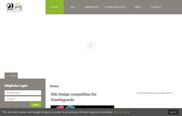 Vorschau von www.avgcard.de, AVG Arbeitsgemeinschaft der Hersteller und Verleger von Grußkarten und Glückwunschkarten