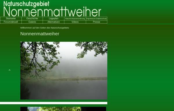 Vorschau von www.nsg-nonnenmattweiher.de, Naturschutzgebiet Nonnenmattweiher