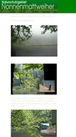 Vorschau der mobilen Webseite www.nsg-nonnenmattweiher.de, Naturschutzgebiet Nonnenmattweiher
