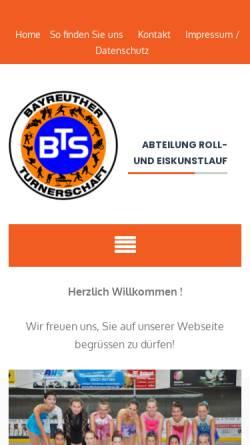 Vorschau der mobilen Webseite www.bayreuther-turnerschaft.de, Bayreuther Turnerschaft