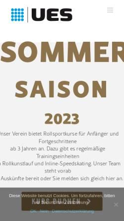 Vorschau der mobilen Webseite www.eislaufen-eisenstadt.at, Eissportclub Union Eisenstadt