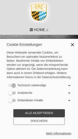 Vorschau der mobilen Webseite www.erc-muenchen.de, ERC München
