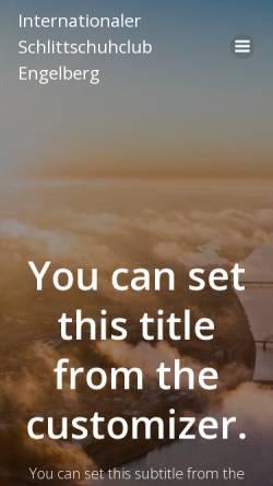 Vorschau der mobilen Webseite www.isc-engelberg.ch, ISC Engelberg